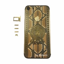 For iPhone 7 4 7 24K 24KT 24CT Gold Indian Diamnond Crystals Back Cover Housing Middle