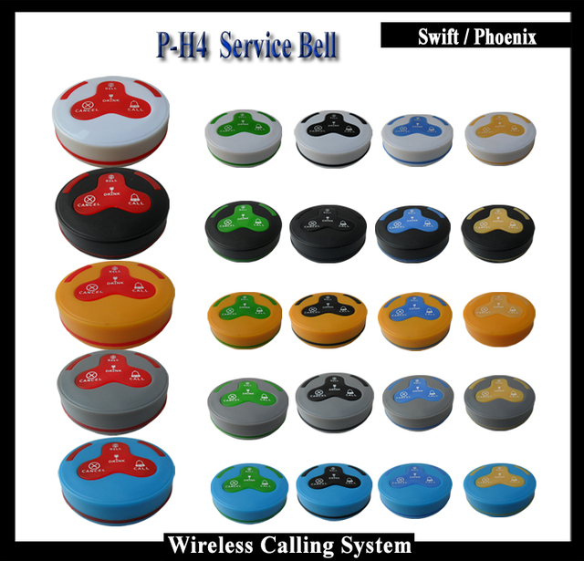 2016 New Restaurant Buzzers Bell Button for restaurant wireless table bell system (10pcs/set)