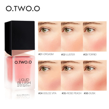 Makeup Face Liquid Blusher Sleek Silky Paleta De Blush Color Lasts Long 6 Natural Cheek Contour Make Up  6061