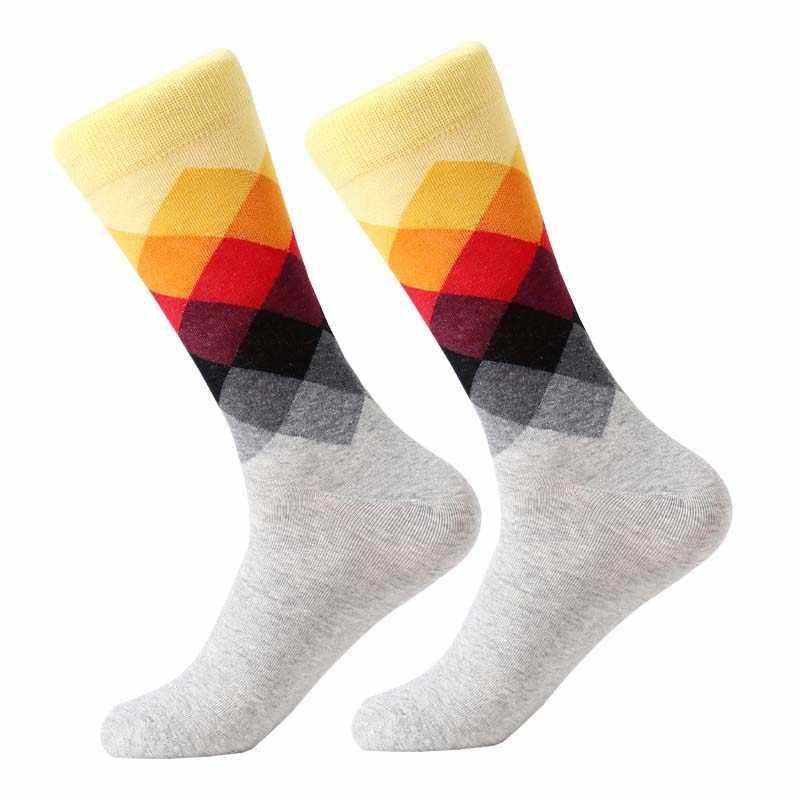 MYORED Männlichen Flut Marke männer baumwolle Socken Farbverlauf sommer Stil lange hochzeit socke männer Kniehohe Business Socken mann sox