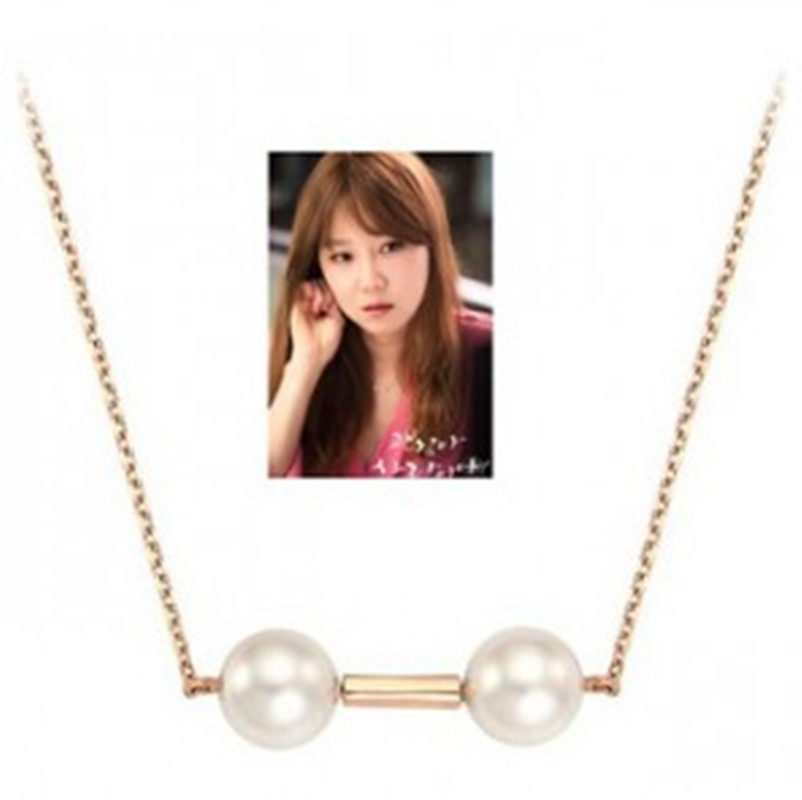 2018 N Simulated Pearl Crystal Long Sweater Chain Circles Necklace Vintage Accessary Crystal Collares Statement Jewlery