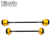 BJMOTO MT 07 Motorbike Pair Rear Front Axle Fork Crash Slider Protector Cap Falling Protection For YAMAHA MT-07 MT07 2013-2017