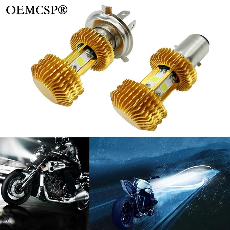 H4 BA20D HS1 LED Motorcycle Headlight H6 12V 80V 15W 1400LM High Quality Moto Light Chip