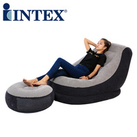 INTEX high quality foldable strong waterproof comfortable inflatable sofa camping inflatable mat