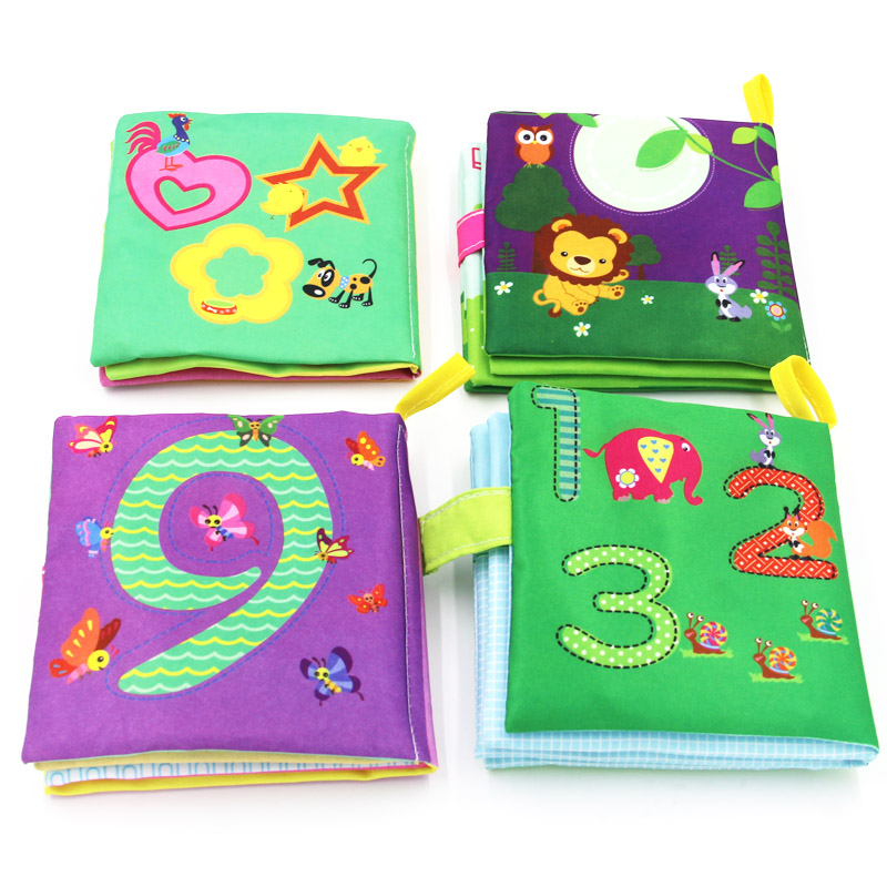 Baby Learning Education Animal Embroidery Soft Cloth Book Animal Fabrics Books Baby Baby Early Learning Cloth Books цена
