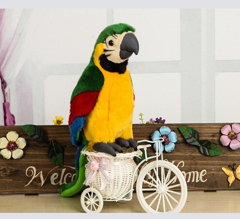 25 cm réaliste militaire Macaw en peluche jouet réaliste vert perroquet jouets en peluche animaux aras oiseau en peluche cadeaux pour les enfants