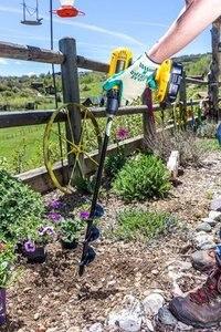 Image 5 - 8 x 60cm Garden Auger Spiral Drill Bit Flower Planter Bulb Shaft Drill Auger Yard Gardening Earth Drill Planting Hole Digger Too