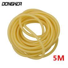 2mm x 4mm Natural Latex Outdoor Slingshot Shooting 5m Elastic Tubing Band Tactical Hunting Catapult High Resillient Rubber Tube