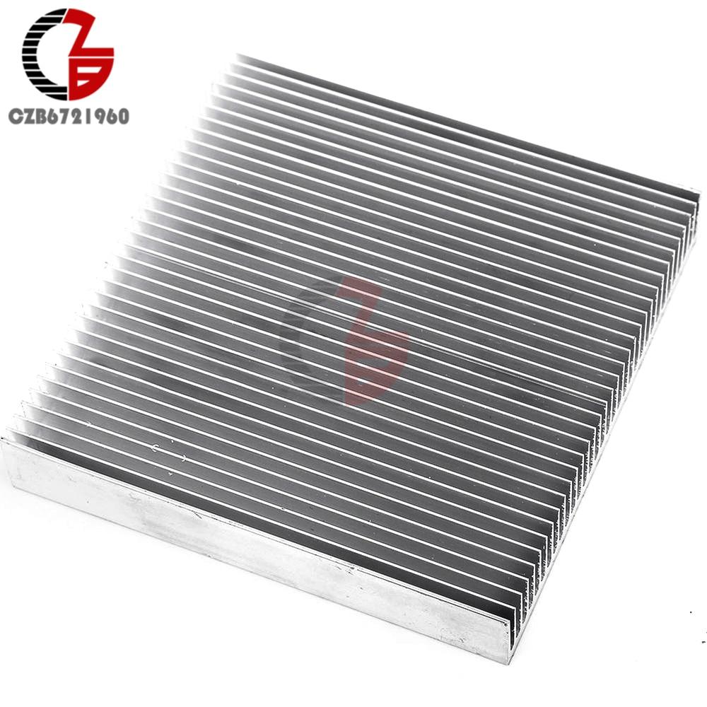 Алюминиевый радиатор охлаждения 90x90x15 мм светодиодный преобразователь силового ИС-транзистора постоянного тока