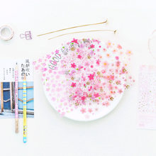 6 unids/pack romántico Sakura pegatinas de PVC diario etiqueta engomada decoración para Scrapbook japonés papelería pegatinas
