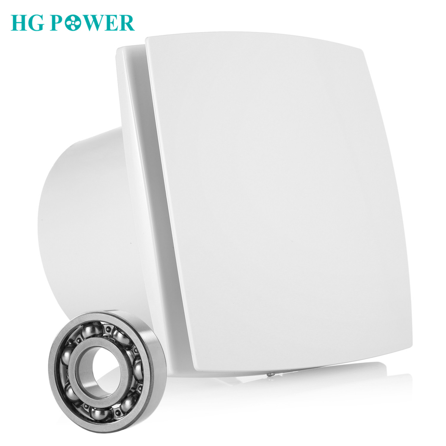 6inch Silent Toilet Exhaust Fan Home Bathroom Kitchen Toilet Fan Extractor Air Ventilation Low Noise Ventilator Wall Mounted Fan-in Vents from Home Improvement    1