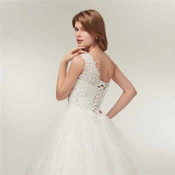Fansmile Real Photo One Shoulder Ball Wedding Dress 2019 Vintage Lace Bridal Plus Size Wedding Gowns Vestidos de Noiva FSM-128F