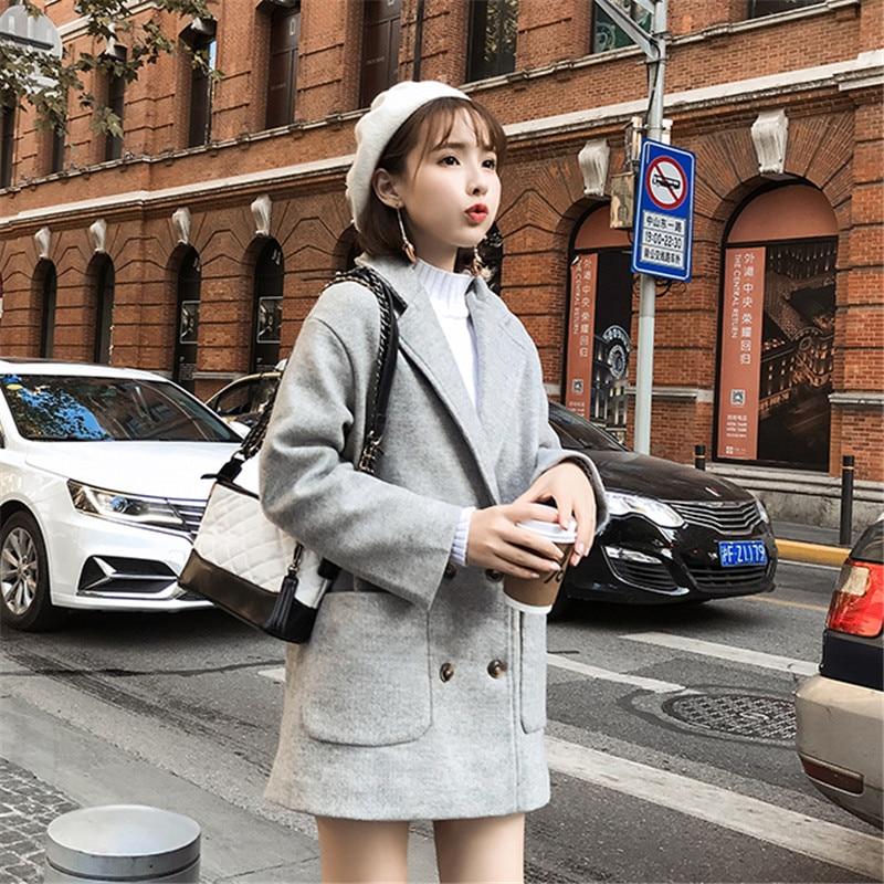 Double Y31 khaki Cotton Populaire Veste À White Laine Plus Femmes Printemps Longue Nouveau white Manteau Femelle 2019 gray Cotton khaki Automne Cotton Mi Coréenne En Boutonnage gray Épaissir D'extérieur UUf0qwpv