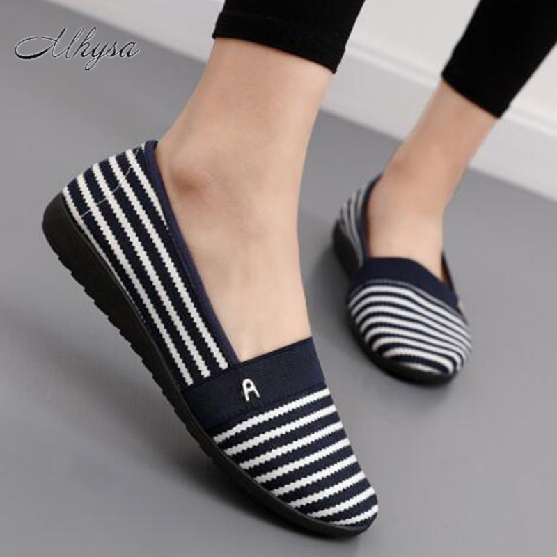Mhysa 2018  women casual spring & summer slip on loafers lady cute comfortable slip on flat shoes female flats S90 flats new women s shoes in spring and summer 2017 will be able to make comfortable and sweet flat footed women s shoes