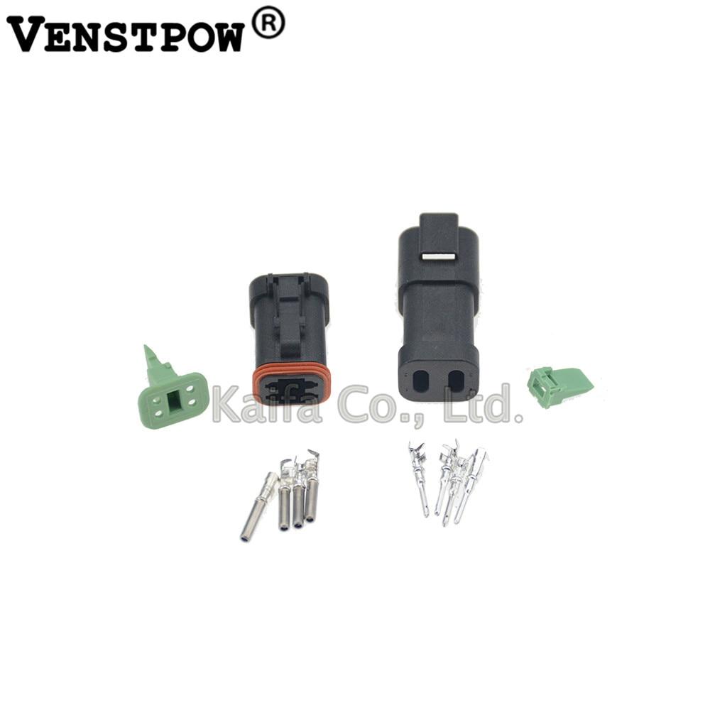 1sets Deutsch DT4P male female Waterproof Electrical Wire  DT04-4P-E005 DT06-4S