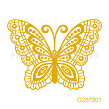 Mini Body Art Waterproof Temporary Tattoos For Men Women Golden Butterfly Design Flash Tattoo Sticker CC67201