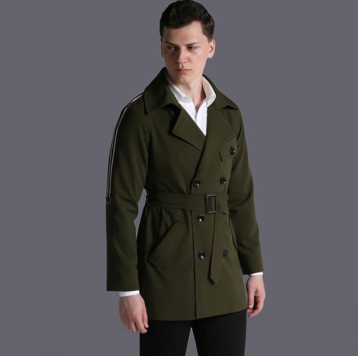 Spring autumn 2019 new designer loose   trench   coat men overcoat long sleeve mens clothing business outerwear casaco masculino