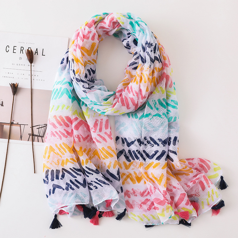 Hot 2019 Spain Brand Women   Scarf   Spring Summer Viscose   Scarves   Shawls and   Wraps   Lady Pashmina Beach Stoles Muslim Hijab Foulards