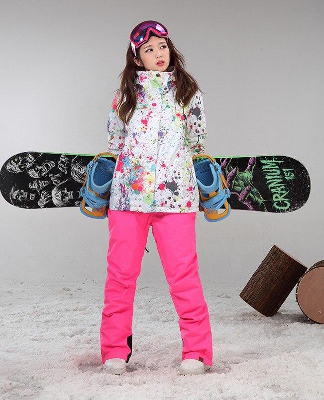 2017 nuevas mujeres de impresión traje de esquí femenino - Ropa deportiva y accesorios - foto 3
