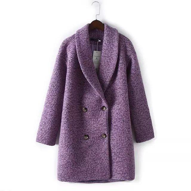 Popular Purple Wool Coats-Buy Cheap Purple Wool Coats lots from ...