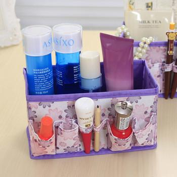 Wielofunkcyjne składane nietkane pulpit organizator na przybory do makijażu schowek szuflada na szafę szalik skarpety Finisher tanie i dobre opinie Włókniny tkaniny OLOEY Non-woven fabrics Admission Originality Flower 18*10 5*10CM