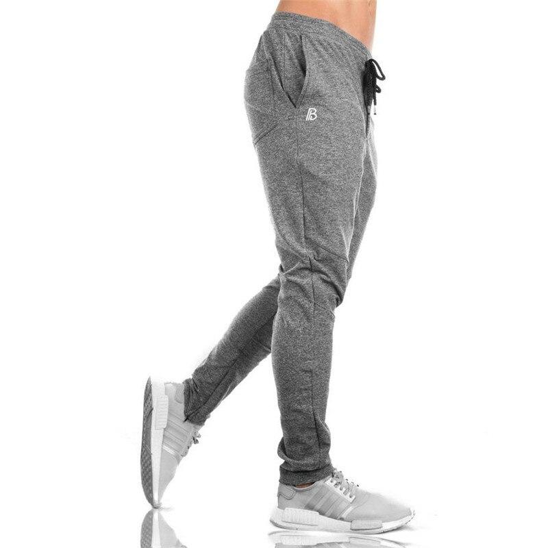 Image 3 - Men's Men's Trousers 2018 Fall Men's Trousers Men's Pants Fitness Sweatpants gyms Joggers Pants Workout Casual Pants Black Pants-in Skinny Pants from Men's Clothing
