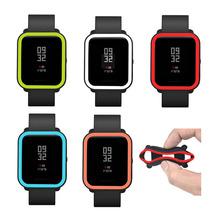 Miękkie silikonowe obudowa do Xiaomi Huami Amazfit Bip Bit Pace młodzieży zegarek Protector osłona ramy Shell dla Amazfit Bip akcesoria tanie tanio PETENRY Przypadki Dorosłych for Xiaomi Huami Amazfit Bip Bit Pace Youth Watch for amazfit bip accesorios watch case for amazfit bip
