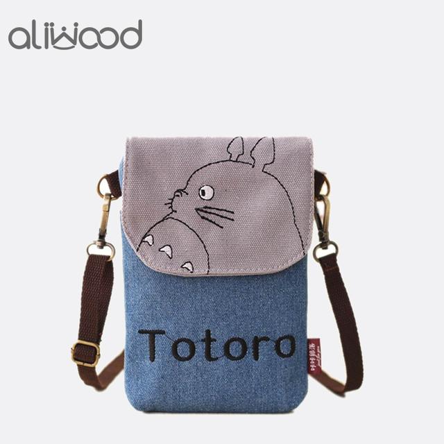 2018 New Cartoon Totoro Women Bag Messenger Bags Lady's Mini Shoulder Bag Handbags Female Clutch Purse Phone Bag Set For Animals