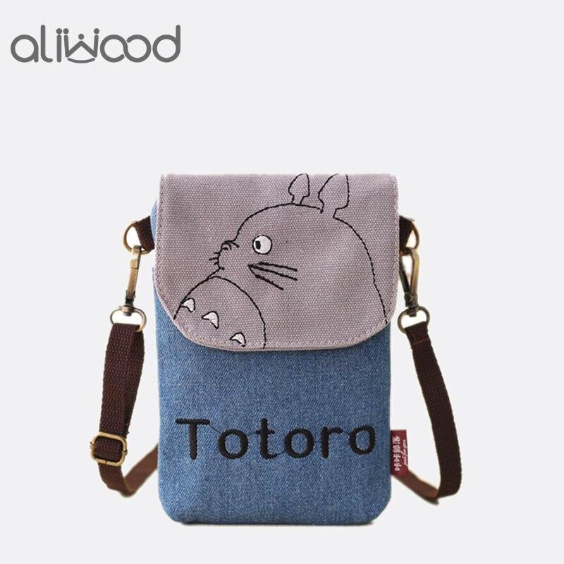 2018 New Cartoon Totoro Women Bag Messenger Bags Ladys Mini Shoulder Bag Handbags Female Clutch Purse Phone Bag Set For Animals