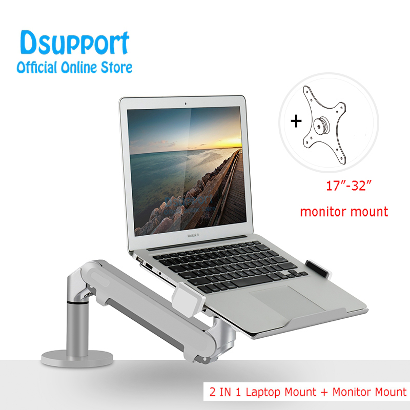 Dual use for Monitor Holder and laptop Desk Stand Adjustable OZ 1S Single Arm Gas Spring