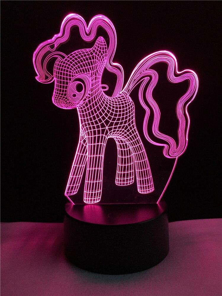 Luzes da Noite kawai bonito ponygirl unicórnio 3d Function : Animal