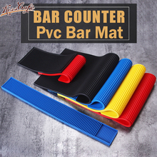 1 pc 3 Size & 4 Color Rectangle PVC Bar Mat Rubber Beer Service Spill For Table Black Water Proof