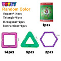 Becky 24 unids magnética modelos y la construcción de bloques de juguete bloques de formas geométricas magnética ladrillo Diy Kit Kids juguete