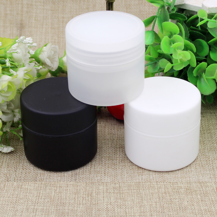 10/20/50pcs 50g Empty Round Double Layer White/Clear/Black Facial Cream Jar Pot Cosmetic Refillable Container Bottle Package Box 6 pcs 15g 30g 50g 1oz empty upscale refillable black cosmetics cream glass bottle container pot case jar with black lid