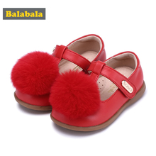 Children Shoes Girls Shoes 2018 New Autumn Fashion Princess Shoes For Girls Single Sheepskin Soft Breathable Cute Childs Shoes cheap Rubber Fits true to size take your normal size Leather Hook Loop Solid Cotton Fabric casual shoes 28423180205