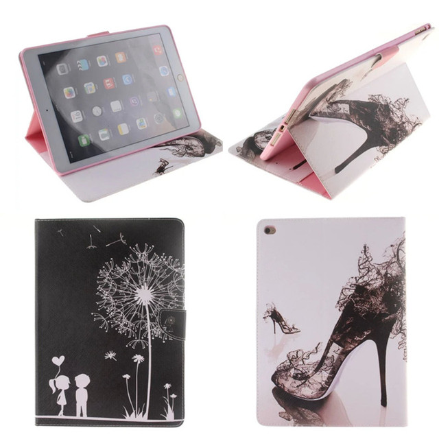 TX-DX Popular Pattern PU Leather Case With Card Slots For Apple iPad Air 2 Case Folio Stand Skin For iPad Air2 Cover Fundas