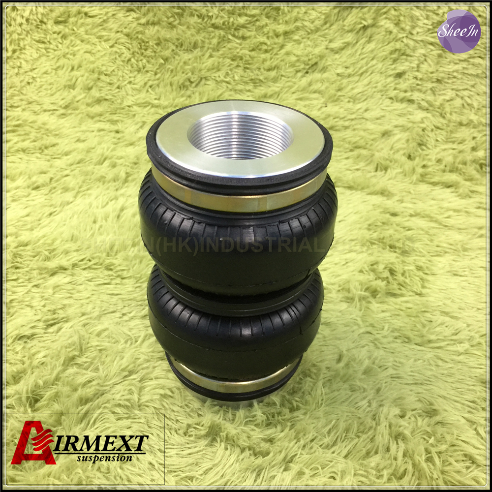 SN108160BL2-DT2 /Fit D2 coilover Thread M52*1.5/Air suspension Double convolute rubber airspring/airbag shock absorber airlift5814 sn142156bl2 dt m50 2 fit d2 coilover m50 2 double convolute air spring pneumatic rubber air suspension air bellow