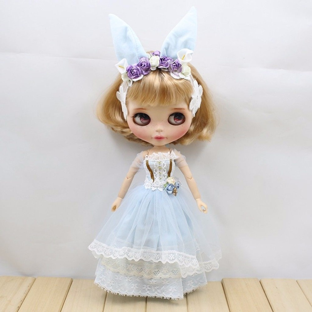 Neo Blyth Outfit little doll dress blue Hua Xianzi Fantasy Fairy DressNeo Blyth Outfit little doll dress blue Hua Xianzi Fantasy Fairy Dress