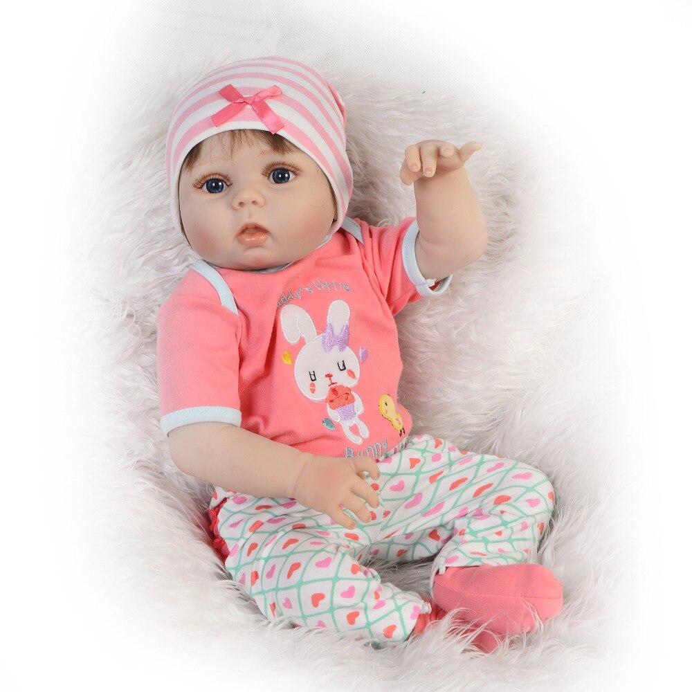 Levensechte 23 ''Reborn Baby Meisje Mooie 57 cm Full Siliconen Reborn Poppen Baby 'S Vinyl Wasbare Bebe Speelgoed Voor Kids verjaardag Geschenken-in Poppen van Speelgoed & Hobbies op  Groep 2