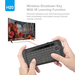Image 2 - H20 Mini Wireless Keyboard Backlight Touchpad Air mouse IR Leaning Remote control For Andorid BOX Smart TV Windows PK H18 Plus