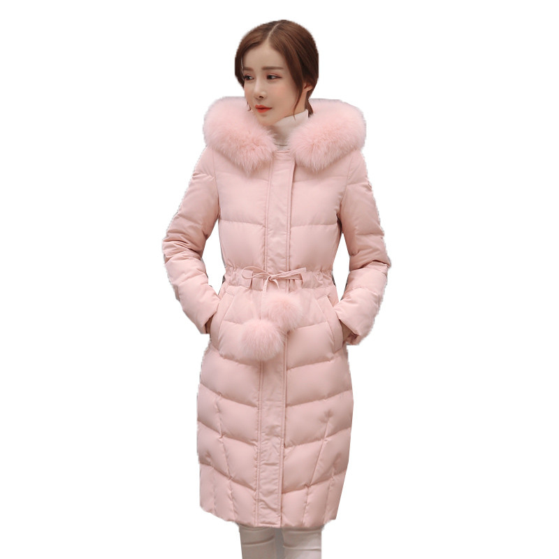 Winter Jacket Female pink   Parka   Coat Feminina Plus Size Long Hooded Down cotton Coat Thick Long warm Outerwear women Jacket