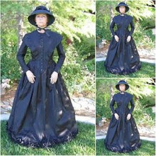 SC-332 Victorian Gothic/Vintage Dress Halloween Theater Movie dresses Prairie Chic dress Custom made