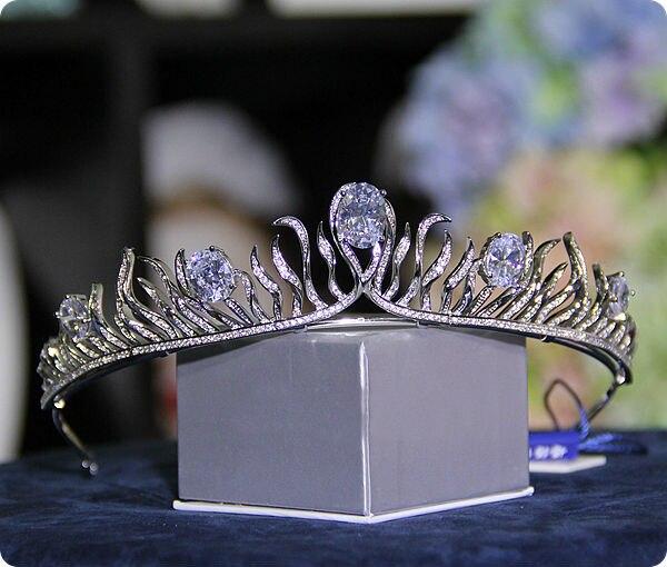 Nupcial Do Casamento de Cristal Tiara Crown Princess Pageant Prom Queen Rhinestone Nupcial Tiara Acessórios Do Casamento Headpiece Headband