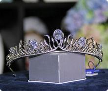 Wedding Bridal Crystal Tiara Crown Princess Pageant Prom Queen Rhinestone Nupcial Accesorios de La Boda Tiara Celada de La Venda
