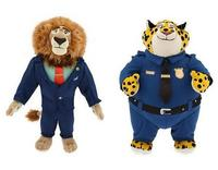 2016 Animated Film Zootopia Lion Mayor and Clawhauser Stuffed Plush Toy Zootropolis Flash Plush Doll