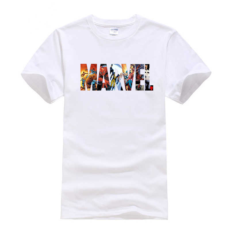 2019 Summer new Fashion Marvel t shirt short sleeves Casual The Avengers Superhero cotton high quality t-shirt men tops tees