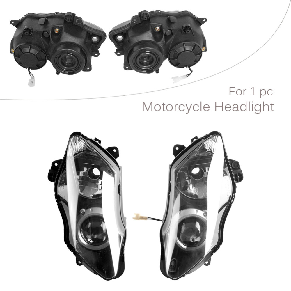 GZYF Headlight For Yamaha 2007 2008 YZF-R1 07 08 YZF R1, Front Brand New Clear light Lamp from China, Black Color hot sales for yamaha r1 fairings yzfr1 2007 2008 yzf r1 yzf r1 yzf1000 r1 07 08 red black abs fairings injection molding