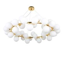 45 head Nordic creative circle Dia.95cm led chandelier light Round Bubble glass lampshade villa G4 lamp 3W AC220V free shipping цена