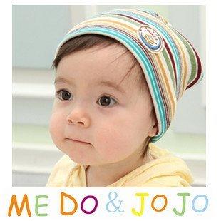 10PCS/lot wholesale baby cap striped Cotton infant hat Beanie kids caps children baby Hat