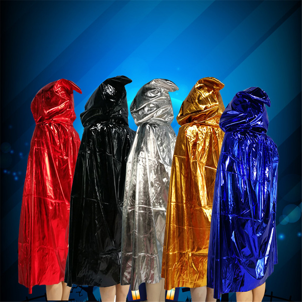 Wholesale New Black Halloween Costume Theater Prop Death Hoody Cloak Devil Long Tippet Cape Cosplay 2018 Fashion  5 Colors